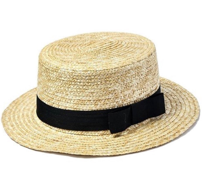 Sun Hat with Black Ribbon