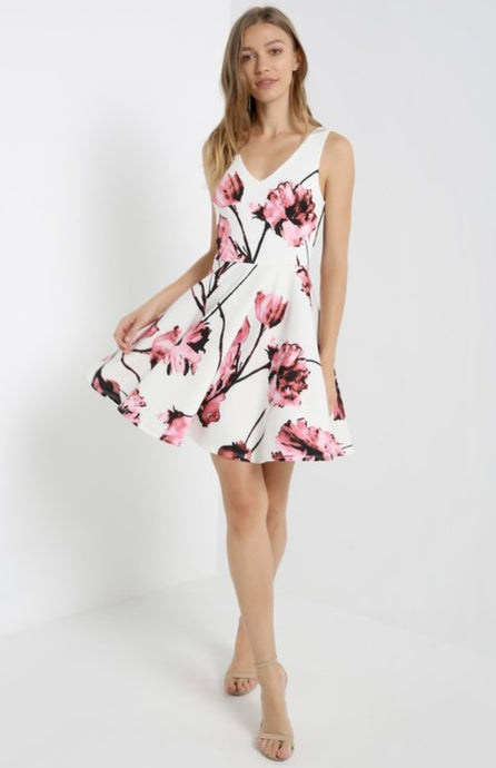 MAI TAI - Floral Mini Skater Dress