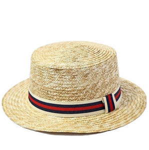 Sun Hat with Red Strip Ribbon