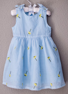 DOE A DEAR - Blue Baby Girl Dress
