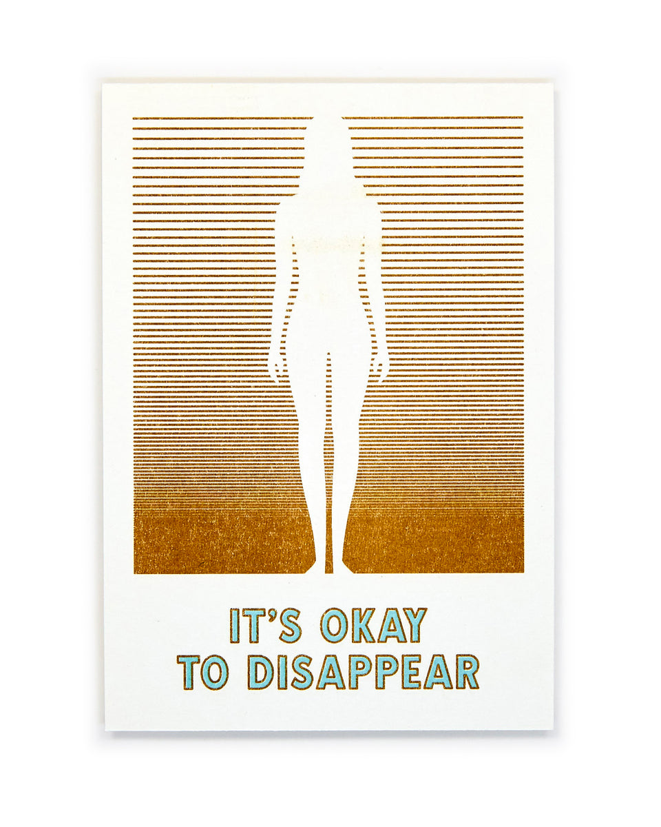 It's Okay to Disappear, Meditation Mini-Print - Relative Goods
