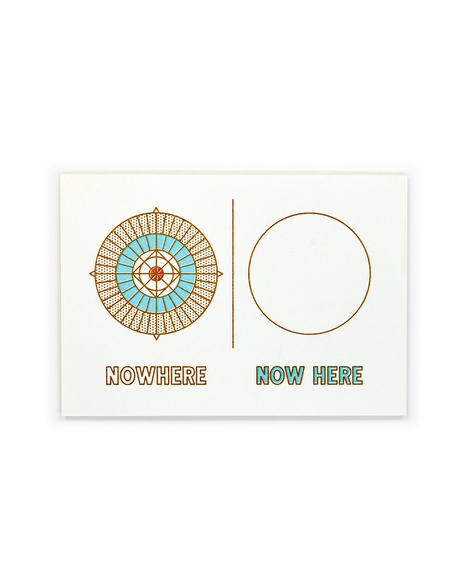 Nowhere | Now Here, Meditation Mini-Print - Relative Goods