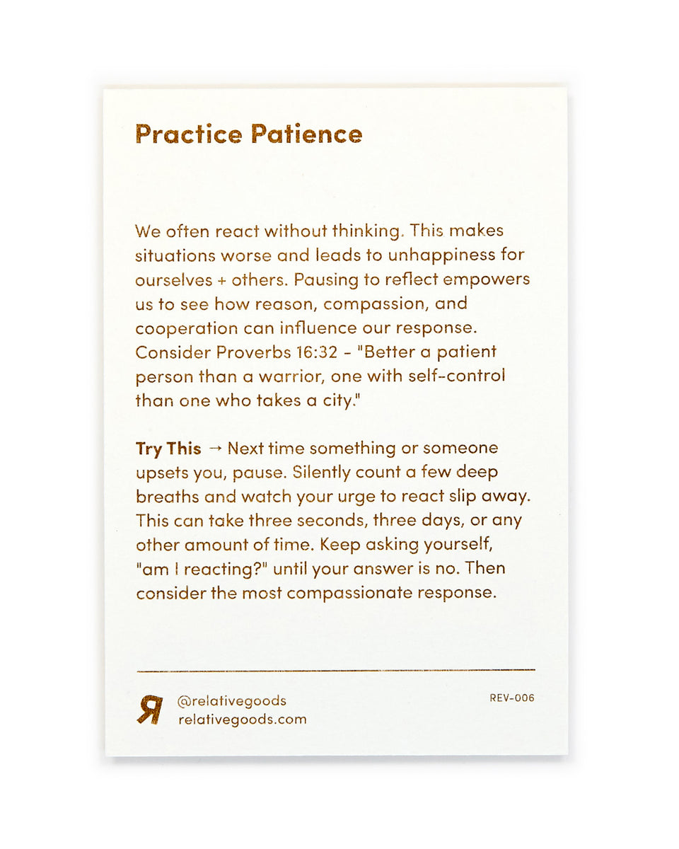 Practice Patience, Meditation Mini-Print - Relative Goods