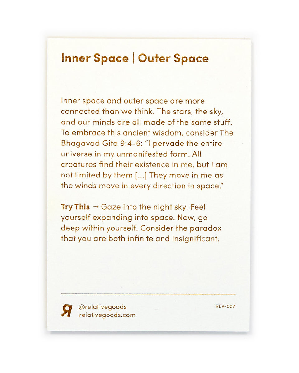 Inner Space | Outer Space, Meditation Mini-Print - Relative Goods