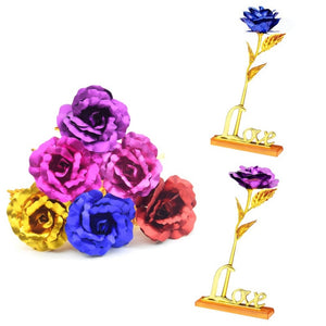 24K Gold Plated Rose with Stand - Niche Savings