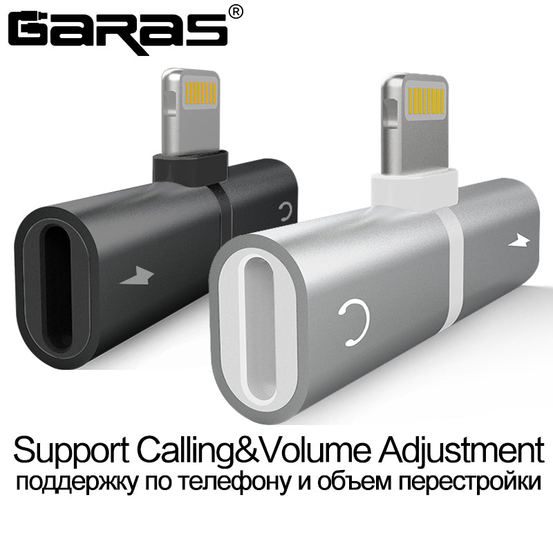 Charging/Audio 2 in 1 Charger Cable Adapter For- i phone 7, 8, X - Niche Savings