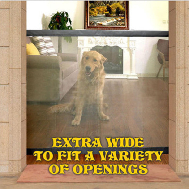 Dog Gate Portable Folding Safety Products Mesh - Niche Savings
