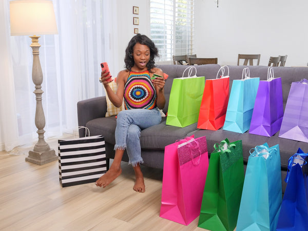 Image of a happy woman customer