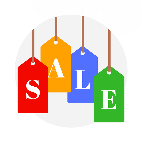An illustration of sale on a shopping tag