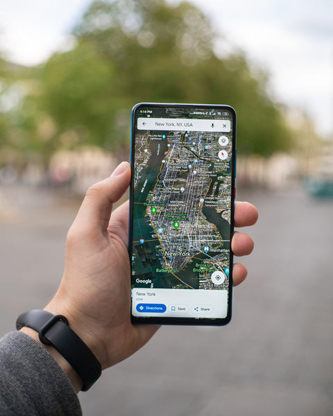 Image of Google Map view