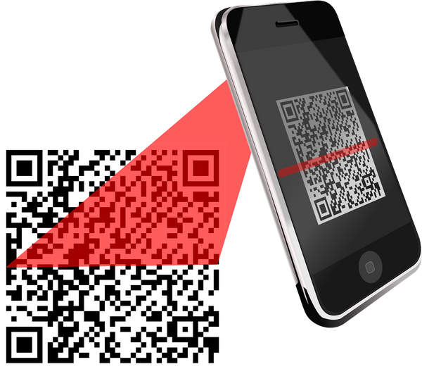 Image of a mobile QR code