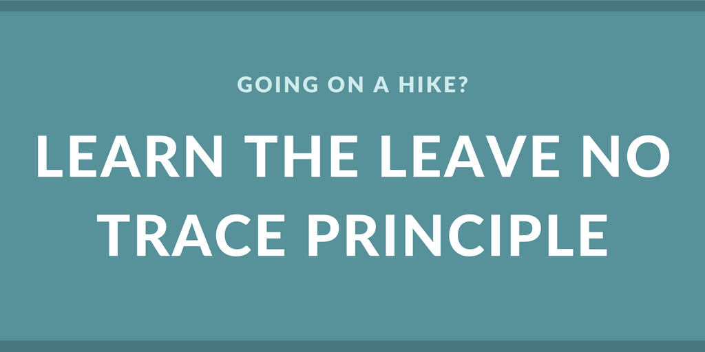 Learn the leave no trace principle
