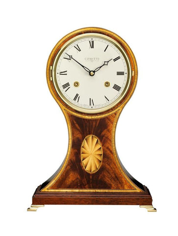 Mahogany Balloon Mantel Clock