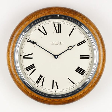 "Oak 10"" Quartz Dial Clock"