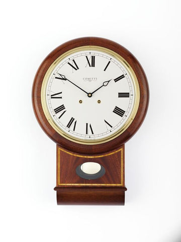 "Inlaid Mahogany 10"" Wall Clock"