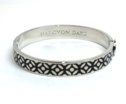 Halcyon Days Bangle - 10mm - 'Rose' - Black/Palladium