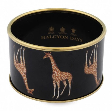 Halcyon Days Bangle - 4cm - 'Giraffe' - Black