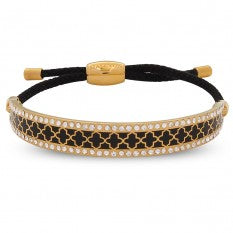 Halcyon Days Bangle - 'Agama Sparkle Friendship' - Black