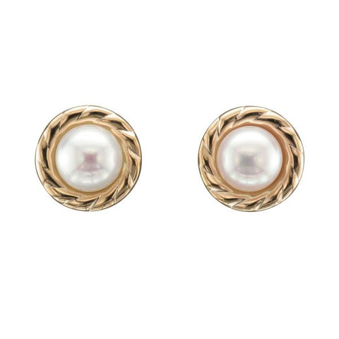 9ct Yellow Gold Cultured Pearl Earrings