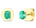 18ct Yellow Gold Emerald Earrings