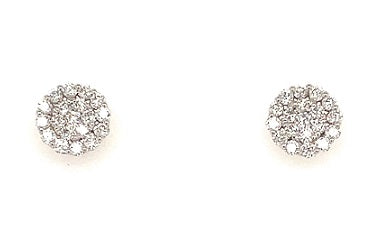 18ct White Gold Diamond Claw Earrings