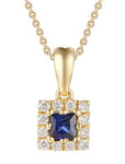 18ct Yellow Gold Diamond & Sapphire Pendant