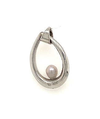 Scottish Freshwater Pearl Creole 9ct White Gold Pendant