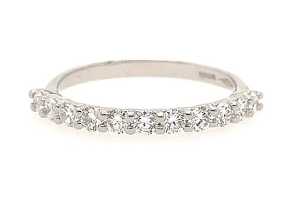 Platinum Eleven Stone Diamond Eternity Ring