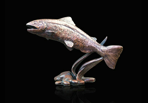 Richard Cooper Bronze - 'Small Salmon'