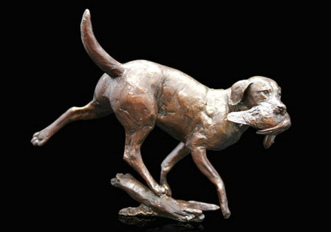 Richard Cooper Bronze - 'Working Labrador'