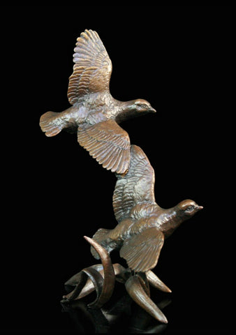Richard Cooper Bronze - 'Pair of Partridges'