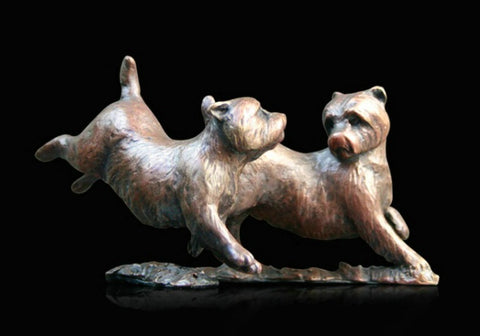Richard Cooper Bronze - 'Westie Pair'