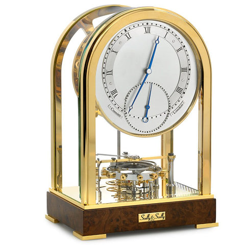 8 Day Meridian Gold Plated Clock - Pre Owned