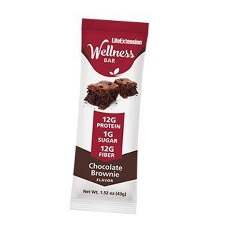 WELLNESS BAR CHOCOLATE BROWNIE 12g PROTEINA 1g AZUCAR 12gms FIBRA