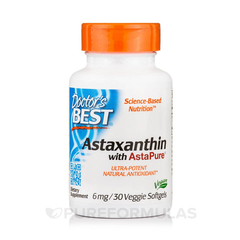 ASTAXANTHIN WITH ASTA PURE 6MG (90 VEGGIE softgels)