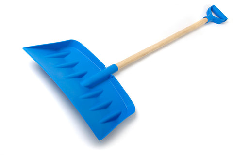 3 Piece Plastic Shovel with Wooden Shaft
