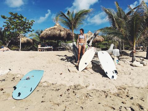 Surfing in St. Barth