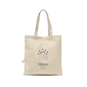 This Way Linen Tote Bag - This Way