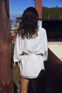 Silk Robe Short Women