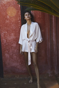 This Way Silk Robe Short Women - This Way