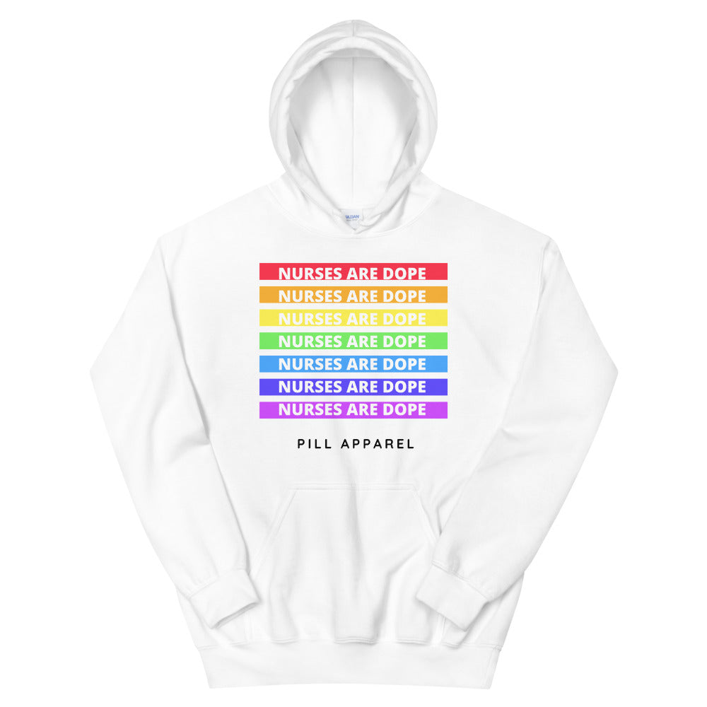 Nurses Are Dope Love Is Love Unisex Hoodie