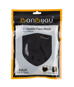 Bonbijou Reusable Face Mask (Adult) With 5 x PM 2.5 Filters