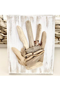 Driftwood Hand w/ Sea Glass Ring