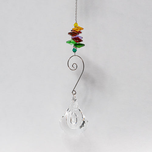 Suncatcher w/ Large rainbow beads.
