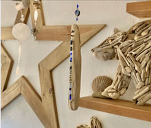 Driftwood Mobile w/ Cobalt Blue & Beads