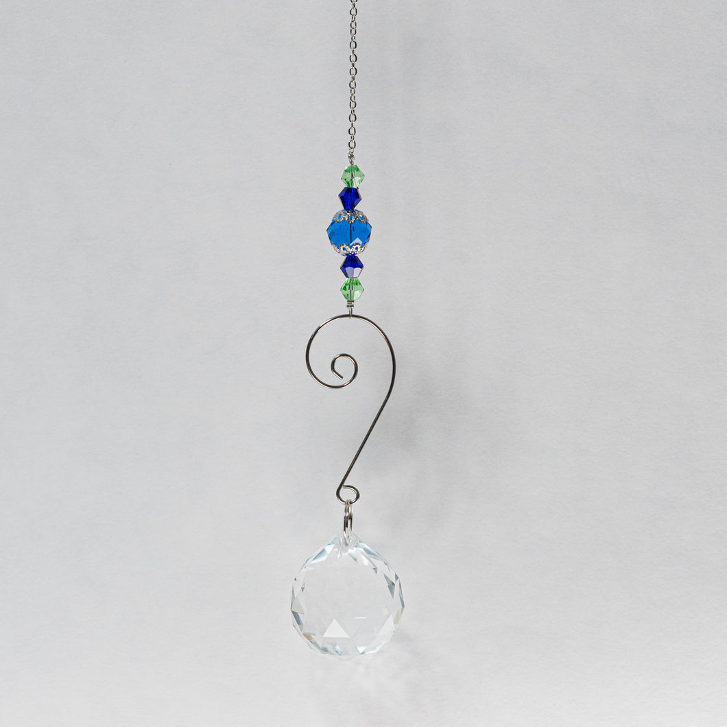 Suncatcher w/ Blue & green beading.