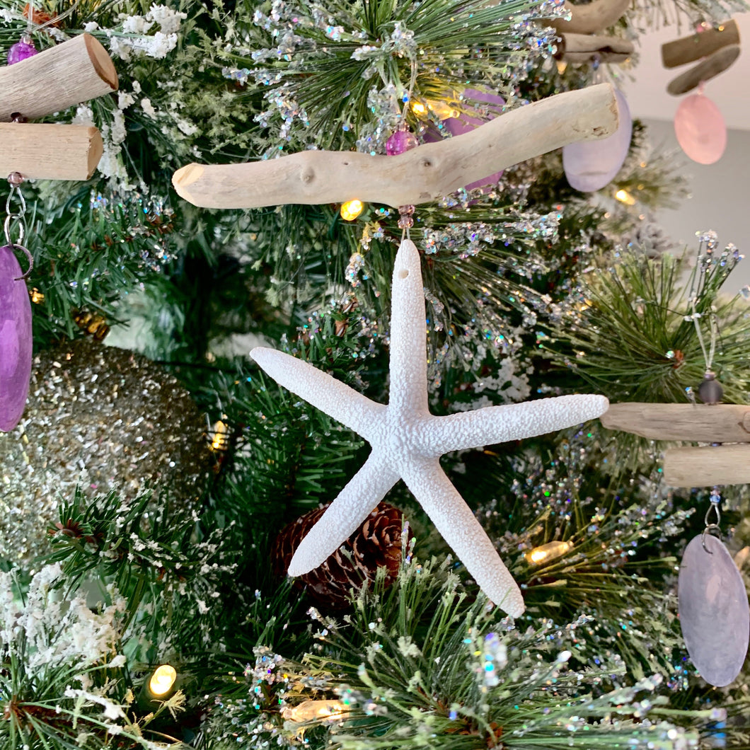 Driftwood Multi Colored Starfish Ornaments