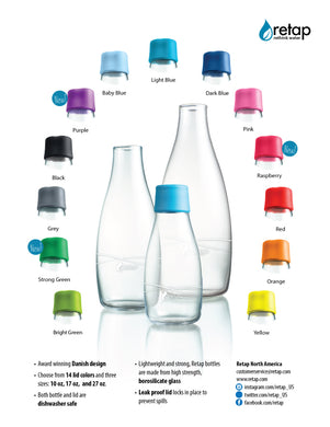 Retap Water Bottles and accessories
