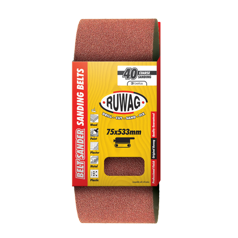 Ruwag Sanding Belts in Packaging