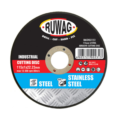 Ruwag Industrial Stainless Steel Abrasive Cutting Disc